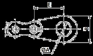 Abmessungen Endlaschen Rollenkette
