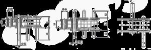Rollenkette mit überstehenden Bolzen Zeichnung
