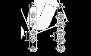 Antriebsketten geschweift gerade Zeichnung