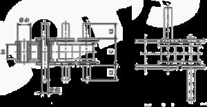Rollenketten mit überstehenden Bolzen Zeichnung