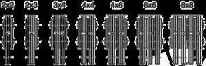 Laschenkombinationen für Flyerketten Hubketten