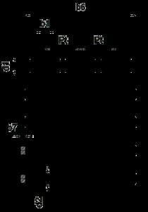 dreifach Rollenkette Zeichnung