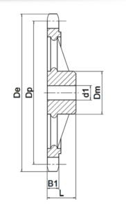 Zahnrad 1x Bemassung
