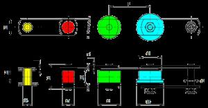 Förderketten Varianten farbig